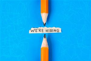 pencils with we're hiring note