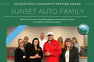 Sunset Auto Family honored with Community Partner Award
