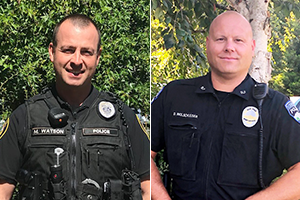 Welcome Officer Watson and Officer Wolschleger!