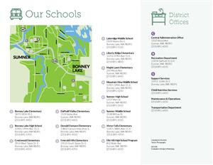 Sumner School District Schools Map
