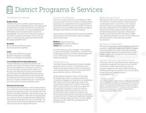 Sumner School District Programs and Services
