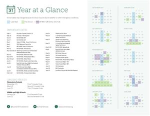 Sumner School District Calendar Year at a Glance