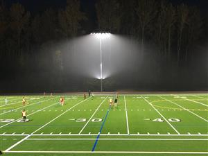 Field with lights