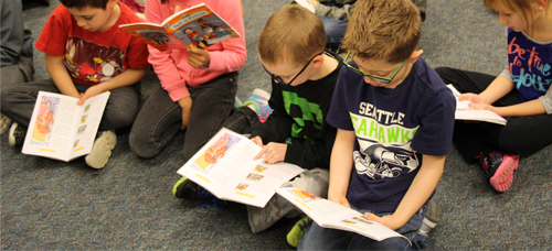 BLE students reading